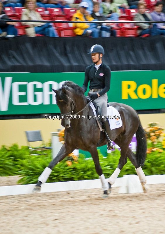 15 April 2009: Edward Gal and Wynton at  the Wednesday Dressage Training Session at the FEI World Cup Finals.