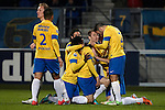 Nederland, Waalwijk, 10 november  2012.Eredivisie.Seizoen 2012-2013.RKC Waalwijk-FC Utrecht.Teddy Chevalier van RKC juicht na het scoren van de 1-0