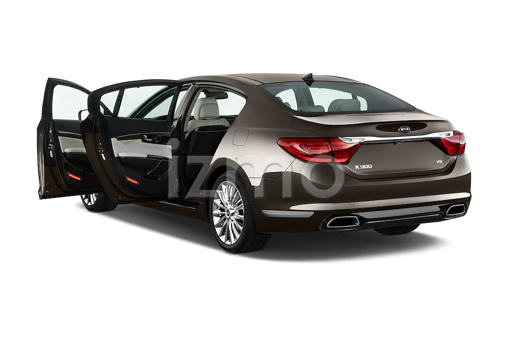 Rear three quarter door view of a 2015 KIA K900 Base 4 Door Sedan