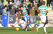 4th November 2017, McDiarmid Park, Perth, Scotland; Scottish Premiership football, St Johnstone versus Celtic; Mikael Lustig battles with David Wotherspoon