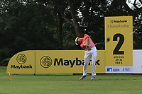 Suradit Yongcharoenchai (THA) in action on the 2nd during Round 1 of the Maybank Championship at the Saujana Golf and Country Club in Kuala Lumpur on Thursday 1st February 2018.<br /> Picture:  Thos Caffrey / www.golffile.ie<br /> <br /> All photo usage must carry mandatory copyright credit (&copy; Golffile | Thos Caffrey)