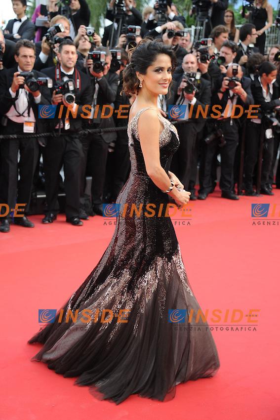 Salma Hayek.Cannes 19/05/2012 65° Festival de Cinema di Cannes.Photo JEAN BIBARD Panoramic/Insidefoto