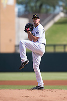 Salt River Rafters starting pitcher Ryan Castellani (38), of the Colorado Rockies organization, delivers a pitch during an Arizona Fall League game against the Glendale Desert Dogs at Salt River Fields at Talking Stick on October 31, 2018 in Scottsdale, Arizona. Glendale defeated Salt River 12-6 in extra innings. (Zachary Lucy/Four Seam Images)
