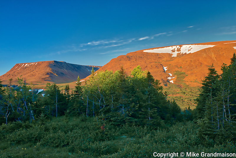 The Tablelands at sunrise. Earth's mantle exposed.<br />