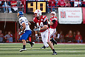 25 September, 2010: Nebraska tight end Mike McNeill #44 running a pass pattern against South Dakota State at Memorial Stadium in Lincoln, Nebraska. Nebraska defeated South Dakota State 17 to 3.