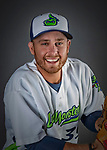 11 June 2019: Vermont Lake Monsters pitcher Josh Reagan poses for a portrait on Photo Day at Centennial Field in Burlington, Vermont. The Lake Monsters are the Single-A minor league affiliate of the Oakland Athletics and play a short season in the NY Penn League Stedler Division. Mandatory Credit: Ed Wolfstein Photo *** RAW (NEF) Image File Available ***