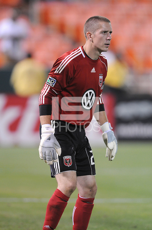 DC United goalkeeper Troy Perkins (23)   DC United defeated Real Salt Lake 2-1 to advance to the round of 16 of the  U.S. Open Cup at RFK Stadium, Wednesday  June 2  2010.