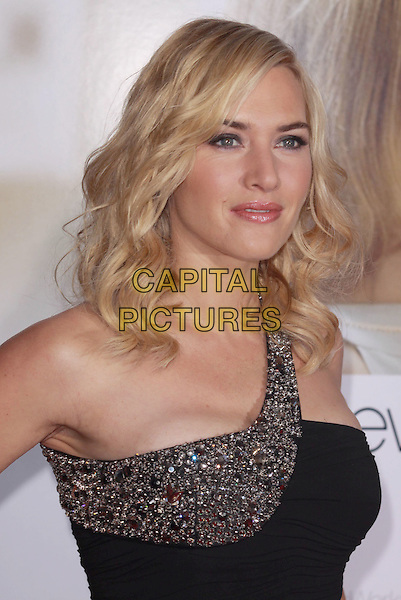 "KATE WINSLET.""Revolutionary Road"" Los Angeles Premiere held at Mann's Village Theatre, Westwood, California, USA..December 15th, 2008.headshot portrait black jewel encrusted one shoulder .CAP/ADM/CH.©Charles Harris/AdMedia/Capital Pictures"