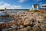 Marshall Point Light in Port Clyde village, St George, ME, USA