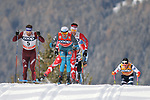 Cross Country Ski World Cup 2018 FIS in Dobbiaco, Toblach, on December 17, 2017; Men 15 km Pursuit Classic; Maurice Manificat (FRA)