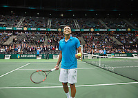 10-02-14, Netherlands,Rotterdam,Ahoy, ABNAMROWTT,, , Jo-Wilfried Tsonga(FRA)<br /> Photo:Tennisimages/Henk Koster