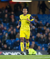 Curtis Nelson of Oxford United during the The Checkatrade Trophy match between Chelsea U23 and Oxford United at Stamford Bridge, London, England on 8 November 2016. Photo by Andy Rowland.