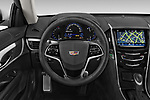 Car pictures of steering wheel view of a 2019 Cadillac ATS Coupe Premium Performance 2 Door Coupe