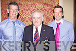 Abbeyfeale RFC celebrated their 50th Anniversary with a dinner dance last Saturday night in the Devon Inn, Templegalantine..Adrian O'Hallroan (Captain Abbeyfeale RFC), Declan Madden (President Munster Ruby Branch), Liam McEnery (vice Captain Abbeyfeale RFC).