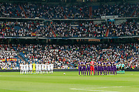 Tribute to the victims in the terrorist attack in Barcelona during Santiago Bernabeu Trophy. August 23,2017. (ALTERPHOTOS/Acero) /NortePhoto.com