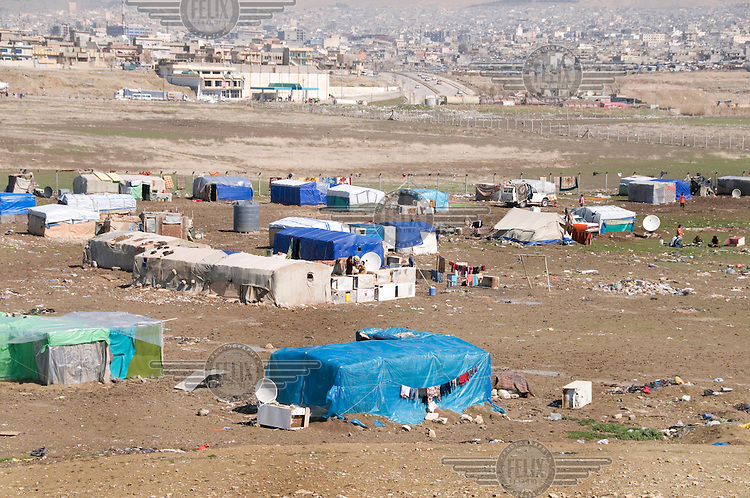 The Qawala camp for displaced persons, where 136 families from accross the country are housed.