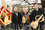 Killorglin is gearing up for it's first ever Biddy Festival this February. <br /> l-r chairman of the festival committee, Conor Browne along with historian and musician, Thomas O'Sullivan and Brian Ahern.