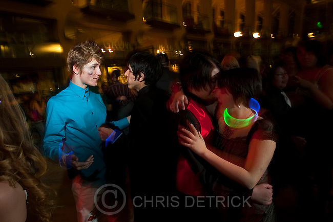 Chris Detrick | The Salt Lake Tribune.McKay Tate, left, and his boyfriend Dillon Juárez, dance as Morgan Shattuck, right, and her girlfriend Cortney McKibben dance at the 2010 Queer Prom at the Salt Lake City Library Saturday, April 10, 2010.