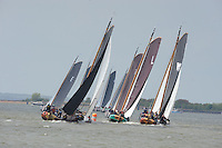 ZEILEN: LEMMER: 09-05-2013, Lemmer Ahoy, Skûtsje Sneek oppermachtig, ©foto Martin de Jong