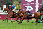 October 05, 2019, Paris (France) - Holdthasigreen (4) with Tony Piccone up wins the Qatar Prix du Cadran (Gr I) on October 5 at ParisLongchamp Race Course. [Copyright (c) Sandra Scherning/Eclipse Sportswire)]