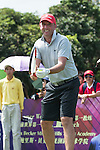 Gary McAllister plays tennis at the 10th hole during the World Celebrity Pro-Am 2016 Mission Hills China Golf Tournament on 22 October 2016, in Haikou, China. Photo by Marcio Machado / Power Sport Images