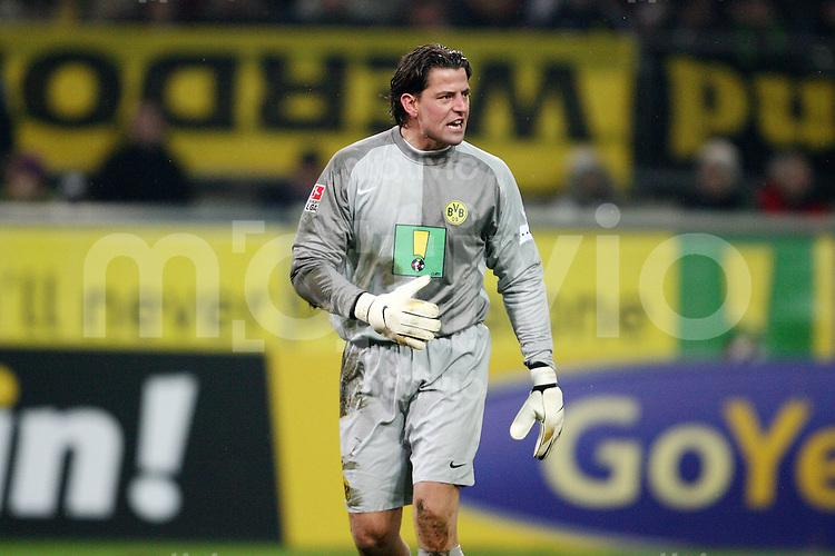 Fussball 1. Bundesliga Saison 2006/2007    17. Spieltag           Borussia Dortmund - Bayer Leverkusen Roman WEIDENFELLER (Dortmund) veraergert ueber seine Mitspieler.