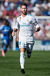 Sergio Ramos of Real Madrid gestures during the La Liga 2017-18 match between Getafe CF and Real Madrid at Coliseum Alfonso Perez on 14 October 2017 in Getafe, Spain. Photo by Diego Gonzalez / Power Sport Images