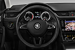 Car pictures of steering wheel view of a 2017 Skoda Octavia Ambition 5 Door Hatchback