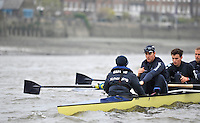 Putney, GREAT BRITAIN,  Oxford University BC. OUBC, stroke Roel Haen, going though a technical exercise, duringg the Thursday morning training session,  Tideway week. Championship course. Putney/Mortlake, Thursday   05/04/2012 [Mandatory Credit, Peter Spurrier/Intersport-images]..OUBC Crew: OUBC. Bow Dr. Alexander Woods, 2. William Zeng, 3. Kevin Baum, 4. Alex Davidson,5. Karl Hudspith, 6. Dr. Hanno Wienhausen, 7. Dan Harvey,Stk. Roel Haen, Cox. Zoe De Toledo. Chief Coach; Sean BOWDEN.