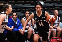 Action from the 2017 national under-19 basketball championship tournament women's playoff between Hawkes Bay and North Harbour at The North Shore Events Centre in Hillcrest, Auckland, New Zealand on Tuesday, 6 June 2017. Photo: Dave Lintott / lintottphoto.co.nz