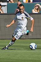 LA Galaxy Landon Donovan moves with the ball towards the goal. The Chicago Fire beat the LA Galaxy 3-2 at Home Depot Center stadium in Carson, California on Sunday August 1, 2010.