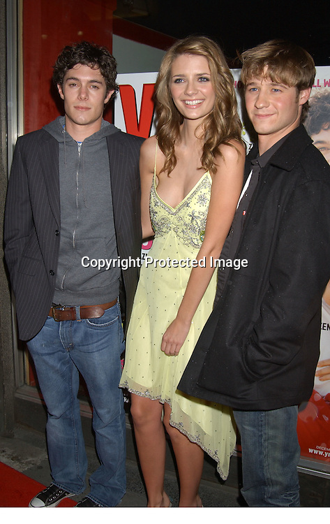"..Ben McKenzie, Mischa Barton and Adam Brody..at ""The O.C."" Fox TV Show  party given by YM Magazine to celebrate the stars being on the cover of YM on    October 28, 2003 at LQ in New York City. ..Photo By Robin Platzer, Twin Images"