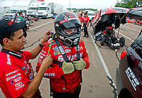 Apr. 30, 2011; Baytown, TX, USA: NHRA funny car driver Cruz Pedregon during qualifying for the Spring Nationals at Royal Purple Raceway. Mandatory Credit: Mark J. Rebilas-