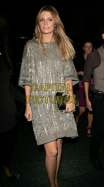MISCHA BARTON.At Marc Jacobs Fashion Show and Afterparty, New York, NY, USA..September 11th, 2006.Ref: ADM/JL.full length silver sequins sequin dress bag purse black.www.capitalpictures.com.sales@capitalpictures.com.©Jackson Lee/AdMedia/Capital Pictures.
