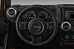 Car pictures of steering wheel view of a 2017 JEEP wrangler Sahara 5 Door SUV Steering Wheel