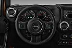 Car pictures of steering wheel view of a 2017 JEEP wrangler Sahara 5 Door SUV Steering Wheel