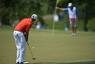 Bethesda, MD - June 29, 2014: Ben Martin putts on the 8th hole during the Final Round of the Quicken Loans National at the Congressional Country Club in Bethesda, MD, June, 29, 2014.   (Photo by Don Baxter/Media Images International)