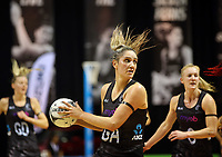 30.08.2017 Silver Ferns Te Paea Selby-Rickit in action during the Quad Series netball match between the Silver Ferns and England at the Trusts Arena in Auckland. Mandatory Photo Credit ©Michael Bradley.