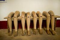 Landmine musuem, prosthetic legs, Vientiane, Laos