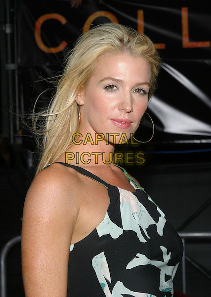 POPPY MONTGOMERY.At the Collateral Premiere, held at the Orpheum Theatre, Los Angeles, CA, USA,.2nd August 2001.half length black and white dress.**UK SALES ONLY**.Ref:JW-ADM.www.capitalpictures.com.sales@capitalpictures.com.©Capital Pictures.