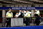 Police watch over Wembley Park Station during the SkyBet Championship Play Off Final match at the Wembley Stadium, England. Picture date: May 29th, 2017.Picture credit should read: Matt McNulty/Sportimage