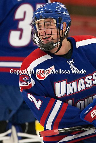 Dmitri Sinitsyn (UML - 21) - The visiting University of Massachusetts Lowell River Hawks defeated the Harvard University Crimson 5-0 on Monday, December 10, 2012, at Bright Hockey Center in Cambridge, Massachusetts.