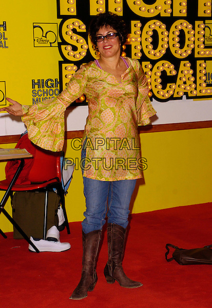 "RUBY WAX.""High School Musical"" UK Premiere, Empire Cinema, London, UK..September 10th, 2006.Ref: CAN.full length yellow green floral print top jeans denim tucked into brown cowboy boots .www.capitalpictures.com.sales@capitalpictures.com.©Can Nguyen/Capital Pictures"