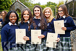 Students from Presentation Secondary School, Tralee, class of 2017, who graduated on Friday evening last were l-r: Aisha Lawal, Isobelle O'Donoghue, Sarah Kilgallon, Maeve O'Connell and Ciara Corridan.
