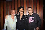 Host Mark Bego and Actor Keith Collins pose with Randy Jones (Village People) who is celebrating birthday and marriage (this morning September 13, 2013) with a celebration at the 13th Annual Kings & Cowboys at DL in New York City, New York.  (Photo by Sue Coflin/Max Photos)