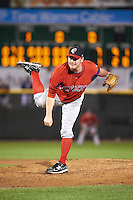 Pawtucket Red Sox closer Alex Wilson #30 delivers a pitch during game four of a best of five playoff series against the Empire State Yankees at Frontier Field on September 8, 2012 in Rochester, New York.  Pawtucket defeated Empire State 7-1 to advance to the International League Finals.  (Mike Janes/Four Seam Images)