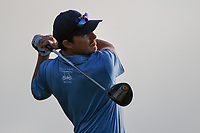Joel Dahmen (USA) watches his tee shot on 11 during day 1 of the Valero Texas Open, at the TPC San Antonio Oaks Course, San Antonio, Texas, USA. 4/4/2019.<br /> Picture: Golffile   Ken Murray<br /> <br /> <br /> All photo usage must carry mandatory copyright credit (&copy; Golffile   Ken Murray)