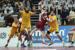 handball wordl cup match between Qatar vs Spain. defense . 2015/01/21. Doha. Qatar. Alberto de Isidro.Photocall 3000
