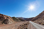 High Atlas Mountains with road in the Ounila Valley, Morocco.