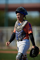 Schyler Arroyo during the Under Armour All-America Tournament powered by Baseball Factory on January 18, 2020 at Sloan Park in Mesa, Arizona.  (Mike Janes/Four Seam Images)